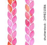 watercolor seamless vertical... | Shutterstock .eps vector #249821086