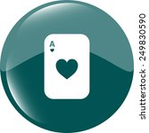 casino sign icon. playing card. ...