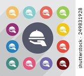 dish circle  flat icons set.... | Shutterstock .eps vector #249831928