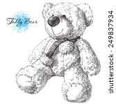 hand drawn teddy bear   Shutterstock .eps vector #249837934