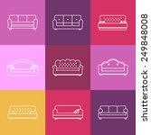 sofa icons set. furniture for... | Shutterstock .eps vector #249848008