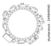 frame of car  line drawing  | Shutterstock .eps vector #249849040