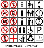 toilet icons | Shutterstock .eps vector #24984931