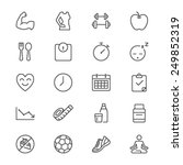 health care thin icons | Shutterstock .eps vector #249852319