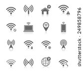 wifi wireless local network... | Shutterstock .eps vector #249858796