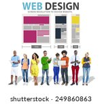 web design network website...   Shutterstock . vector #249860863