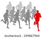winner finish vector background ... | Shutterstock .eps vector #249867964