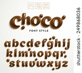 vector latin alphabet made of... | Shutterstock .eps vector #249868036