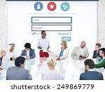 log in security username... | Shutterstock . vector #249869779