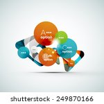 abstract step infographic... | Shutterstock .eps vector #249870166