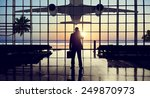 businessman airport travel... | Shutterstock . vector #249870973