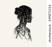 vector double exposure... | Shutterstock .eps vector #249871216