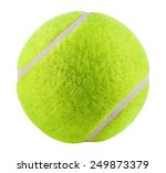 Tennis Ball Isolated On White...