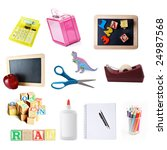 school objects isolated on... | Shutterstock . vector #24987568