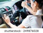 asian couple driving new car ... | Shutterstock . vector #249876028