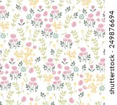 seamless floral pattern | Shutterstock .eps vector #249876694