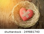 Wounded Heart In Basket
