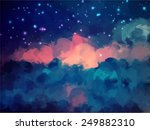 night sky brush strokes... | Shutterstock .eps vector #249882310