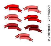 set of ribbon valentine's... | Shutterstock .eps vector #249900004