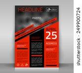 business flyer design  broshure ... | Shutterstock .eps vector #249900724