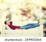 home  leisure and happiness... | Shutterstock . vector #249903364