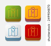 square button  navigator | Shutterstock .eps vector #249904870