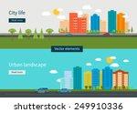 flat design modern vector... | Shutterstock .eps vector #249910336