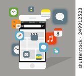 modern smartphone interface...