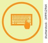 keyboard vector icon | Shutterstock .eps vector #249912964