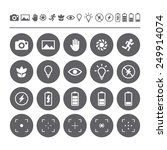 icon set camera viewfinder... | Shutterstock .eps vector #249914074