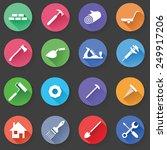 set of universal standard flat... | Shutterstock .eps vector #249917206
