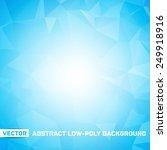 vector abstract polygonal blue... | Shutterstock .eps vector #249918916