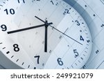clock face and calendar... | Shutterstock . vector #249921079