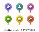 map pin icons in different... | Shutterstock .eps vector #249925069
