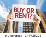 buy or rent  card with a urban... | Shutterstock . vector #249925228