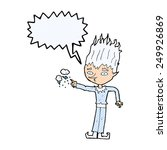 jack frost cartoon with speech... | Shutterstock . vector #249926869