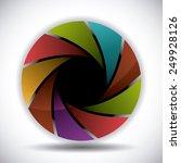 camera lens design  vector... | Shutterstock .eps vector #249928126