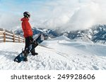 male snowboarder against... | Shutterstock . vector #249928606