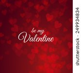 be my valentine card with... | Shutterstock . vector #249934834