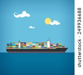 cargo container ship transports ... | Shutterstock . vector #249936688