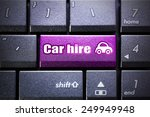 Small photo of Car hire button on the computer keyboard