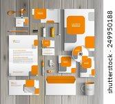 white corporate identity... | Shutterstock .eps vector #249950188