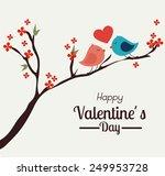 valentines day over white... | Shutterstock .eps vector #249953728