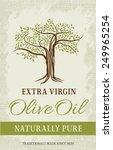 olive tree vintage label.... | Shutterstock .eps vector #249965254