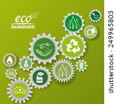eco sustainibility design ... | Shutterstock .eps vector #249965803