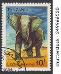 tanzania   circa 1991  a stamp... | Shutterstock . vector #249966520