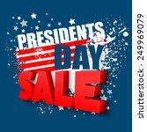 presidents day vector background   Shutterstock .eps vector #249969079