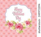 valentines day design  vector... | Shutterstock .eps vector #249972394
