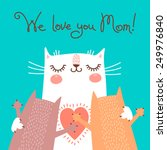 sweet card for mothers day with ... | Shutterstock .eps vector #249976840