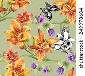 colorful seamless floral... | Shutterstock .eps vector #249978604
